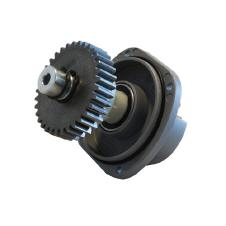 stabiles Schneckengetriebe aus Stahl und Nylon