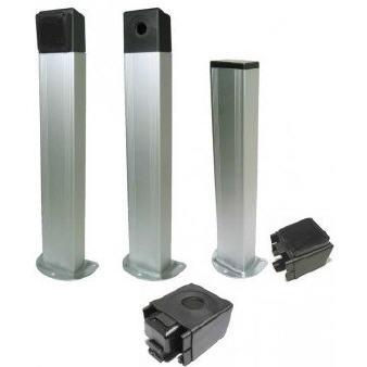 Säule bis 50cm hoch in Aluminiumverkleidung komplett mit T-Stoppern und Schrauben zur Fixierung BA Abmeßung 80 x 50mm