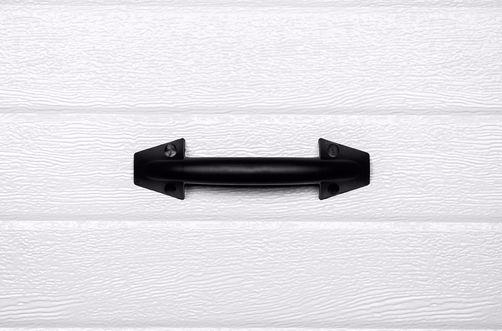 Griff PVC schwarz beidseitig, abgerundet
