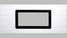 Fenster 637x334mm, schwarzer Rahmen