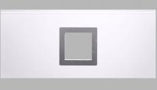 Fenster viereckig - gebürstetes Alu, 290x290mm, Doppel-Acrylverglasung