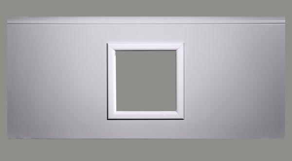 Fenster viereckig - weiß, 290 x 290mm, Doppel-Acrylverglasung