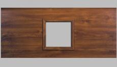 Fenster viereckig - Holzimitation, 290 x 290mm, Doppel-Acrylverglasung