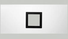 Fenster viereckig - Karbon-Folie, 290x290 mm, Doppel-Acrylverglasung