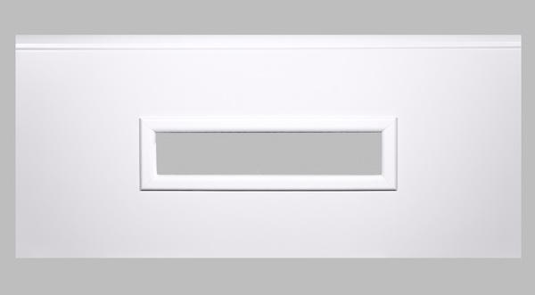 Fenster rechteckig - weiß, 600 x 170mm, Doppel-Acrylverglasung