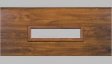 Fenster rechteckig - Holzimitation, 600 x 170mm, Doppel-Acrylverglasung