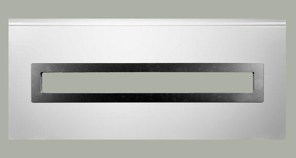 Fenster rechteckig - gebürstetes Alu, 1000 x 170mm, Doppel-Acrylverglasung