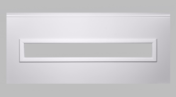 Fenster rechteckig - weiß, 1000 x 170mm, Doppel-Acrylverglasung