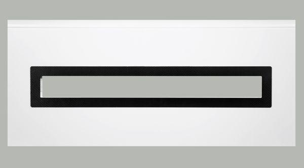 Fenster rechteckig - Karbon-Folie, 1000 x 170mm, Doppel-Acrylverglasung