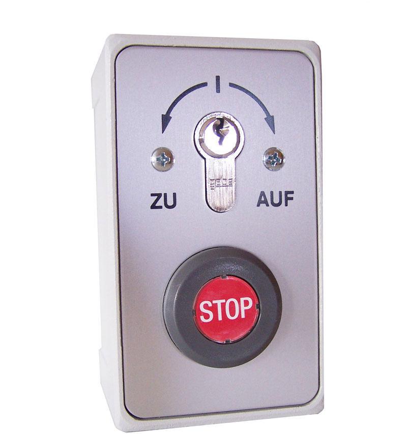 Schlüsselschalter mit Notstopp für gewerblichen Einsatz